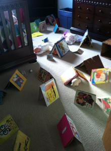 mias first book art installation